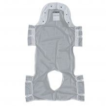 Patient Lift Sling with Head Support and Commode Opening, 53