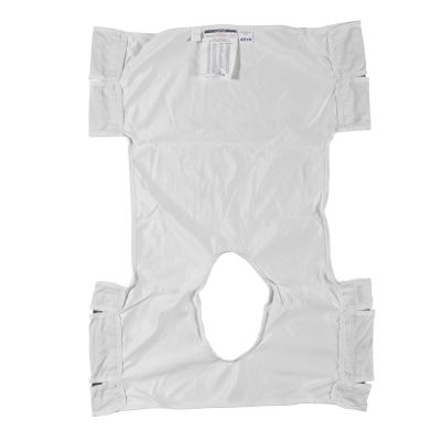 Patient Lift Sling with Commode Opening, Polyester