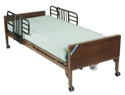 Half Rails and Innerspring Mattress