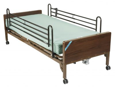 Full Rails and Innerspring Mattress