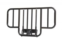 No Gap Half Length Side Bed Rails with Brown Vein Finish