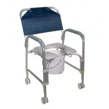Lightweight Portable Shower Chair Commode with Casters