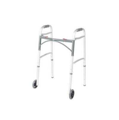Deluxe Two Button Folding Walker with 5