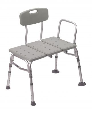 Plastic Transfer Bench with Adjustable Backrest
