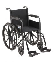 Silver Sport 1 Wheelchair with Full Arms and Swing away Detachable Footrest